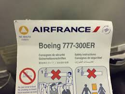 Boeing 777 300er Seat Map Seat Map Air France Boeing B777 300 Long Haul International 381pax
