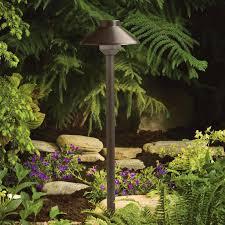 kichler landscape path lights kichler 15820bbr landscape led bronzed brass 22 inch tall outdoor