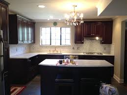 interior kitchen chandelier with kitchen countertops and