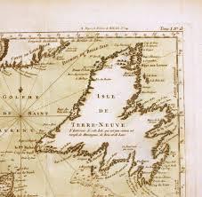 Newfoundland Map Newfoundland Surveys 1763 1767 James Cook 250