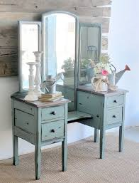Vanity Tables Gorgeous Vintage Style Vanity Table With Dressing Table Without