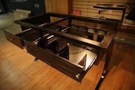bureau pc intégré vanaen val909w une autre vision du bureau avec boitier intégré