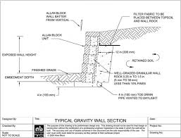 Buttress Wall Design Example Gravity Wall Design Gravity Wall Design And Check Of Gravity