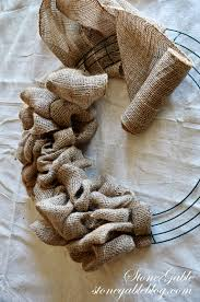 burlap wreath tutorial stonegable