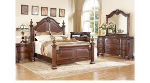 king poster bedroom set cherry 7 pc king poster bedroom traditional