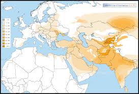 North Africa Southwest Asia And Central Asia Map by Haplogroup R1a Y Dna Eupedia