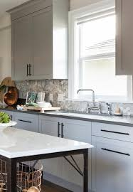 Charcoal Grey Kitchen Cabinets Gray Kitchen Cabinets With Bronze Pulls Transitional Kitchen