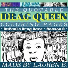 bob the drag queen quote coloring page