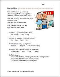 free printable 1st grade reading comprehension worksheets free