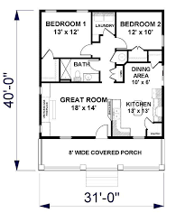 1 Bedroom 1 1 2 Bath House Plans Cottage House Plan With 2 Bedrooms And 1 5 Baths Plan 3147