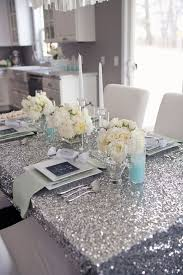 mint to be bridal shower picture of silver ivory and mint table setting for a glam bridal