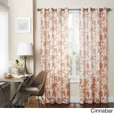 hlc me orange sheer panel window treatment curtains