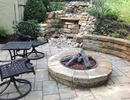 Landscape Fire Features And Fireplace Image Gallery Fire Pit Pictures Gallery Landscaping Network