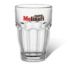 caffè molinari set 6 bicchieri cocktail in vetro trasparente
