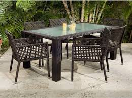 Modern Patio Dining Sets Captivating Glass Top Patio Dining Set Dining Room Glass Top