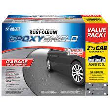 rust oleum rocksolid 152 oz gray polycuramine 2 5 car garage