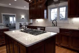 beautiful kitchen stove top on kitchen island with stove top