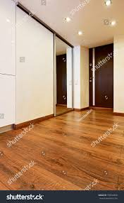 Modern Minimalism Modern Minimalism Style Corridor Interior Slidingdoor Stock Photo