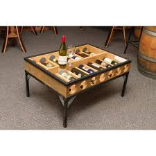 Wine Coffee Table Glass Top Coffee Table Wine Rack Napa East Wine Country Accents