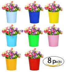 amazon com hanging flower pots for balcony garden plant planter