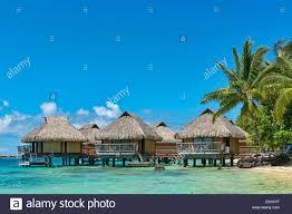 overwater bungalows bora bora french polynesia south pacific