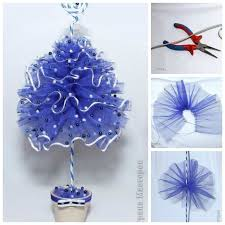 Blue Christmas Decorations Photos by Best 25 Tulle Christmas Trees Ideas On Pinterest Tabletop