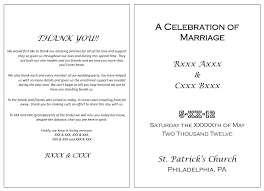 wedding church programs the design of wedding program thank you wording criolla brithday