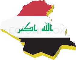 iraq map vector vectors 3d map of iraq stock vector colourbox