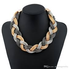 multi rope necklace images Wholesale metal mesh rope chain twisted chunky choker multi jpg