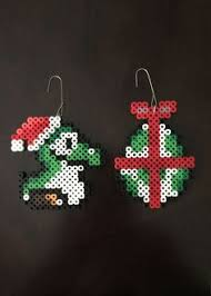 calvin and hobbes inspired 8 bit ornament set holiday theme