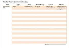 parent communication log for teachers communication record