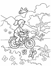 spring scene coloring pages hundreds free spring coloring