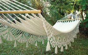 wedding hammock white cotton crochet hammock