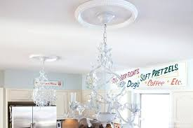 changing recessed light to chandelier ceiling medallions how to replace recessed lights with a pendant