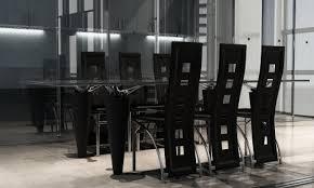 lot de 6 chaises salle à manger lot de 6 chaises de salle à manger en simili cuir noir acier