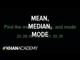 mean median u0026 mode example video khan academy