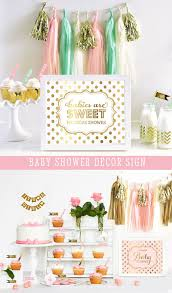 pink and gold baby shower decorations pink baby shower decorations gold baby shower themes for