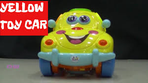 feature of yellow and orange colour nano mini toy car for play by