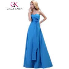 online get cheap long blue strapless bridesmaid dress aliexpress