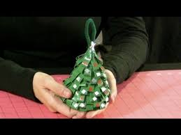 how to make a duct tape christmas tree ornament youtube