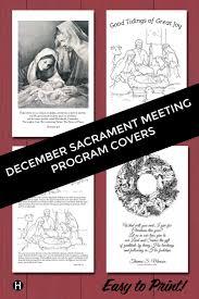 8 best sacrament meeting programs images on church