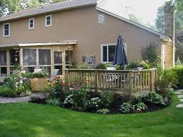 Patio Landscaping Ideas Landscape Ideas For Around A Patio Low To Grade Deck With
