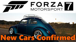 volkswagen vehicles list forza motorsport 7 new cars confirmed fm7 car list youtube