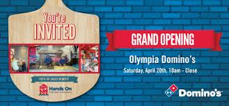 domino s pizza grand opening benefits on children s museum