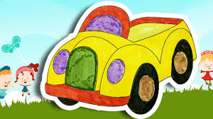 coloring toy car coloring pages kids learning colors kids