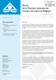 chambre nationale des huissiers de justice revue de la chambre nationale des huissiers de justice de belgique