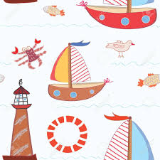 sea travel seamless pattern for kids royalty free cliparts
