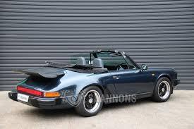 porsche cabriolet classic sold porsche 911 carrera 3 2 cabriolet jubilee edition auctions