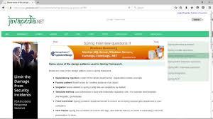 framework design name some of the design patterns used in spring framework