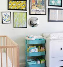 rolling baby changing table ikea rolling cart kitchen in elegant nursery essential organizer